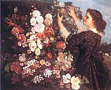 Gustave Courbet Canvas Paintings - The Trellis