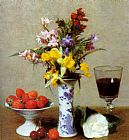 henri fantin-latour Canvas Paintings - Still Life