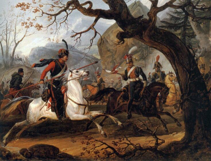 Horace Vernet Napoleonic battle in the Alps