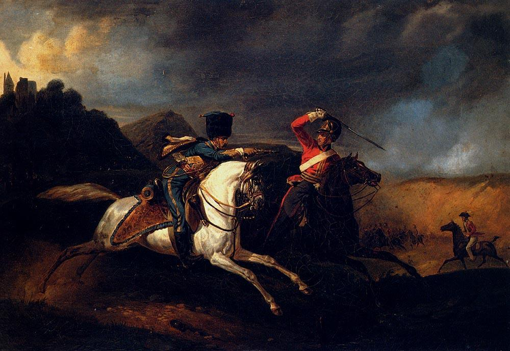 Horace Vernet Two Soldiers On Horseback
