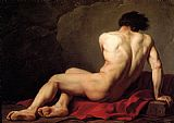 Famous Nude Paintings - Male Nude known as Patroclus