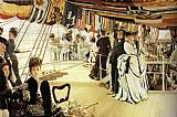 James Jacques Joseph Tissot The Ball on Shipboard painting