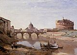 Famous Sant Paintings - Rome - Castle Sant'Angelo