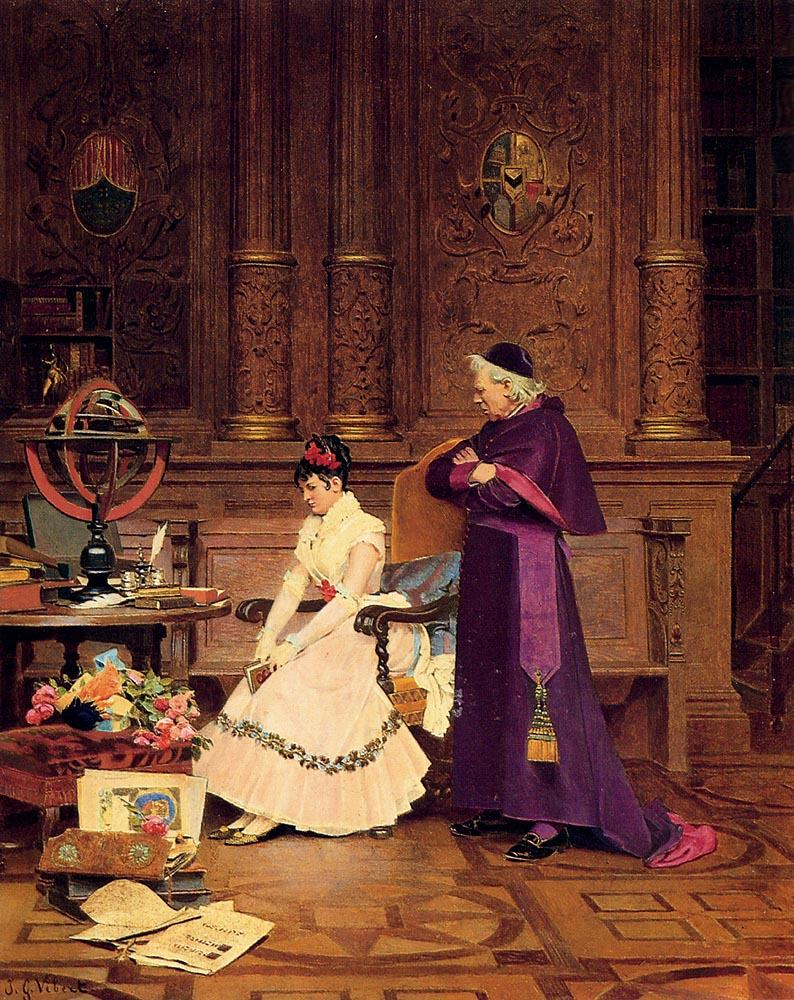 Jehan Georges Vibert The Reprimand
