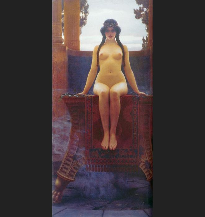John William Godward The Delphic Oracle