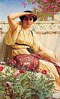 war Canvas Paintings - Godward A Tryst