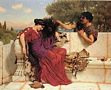 John William Godward Famous Paintings - The Old Old Story