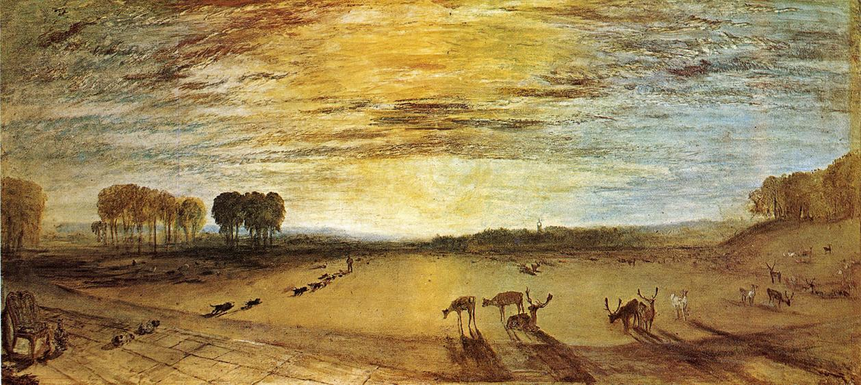 Joseph Mallord William Turner Petworth Park Tillington Church in the Distance