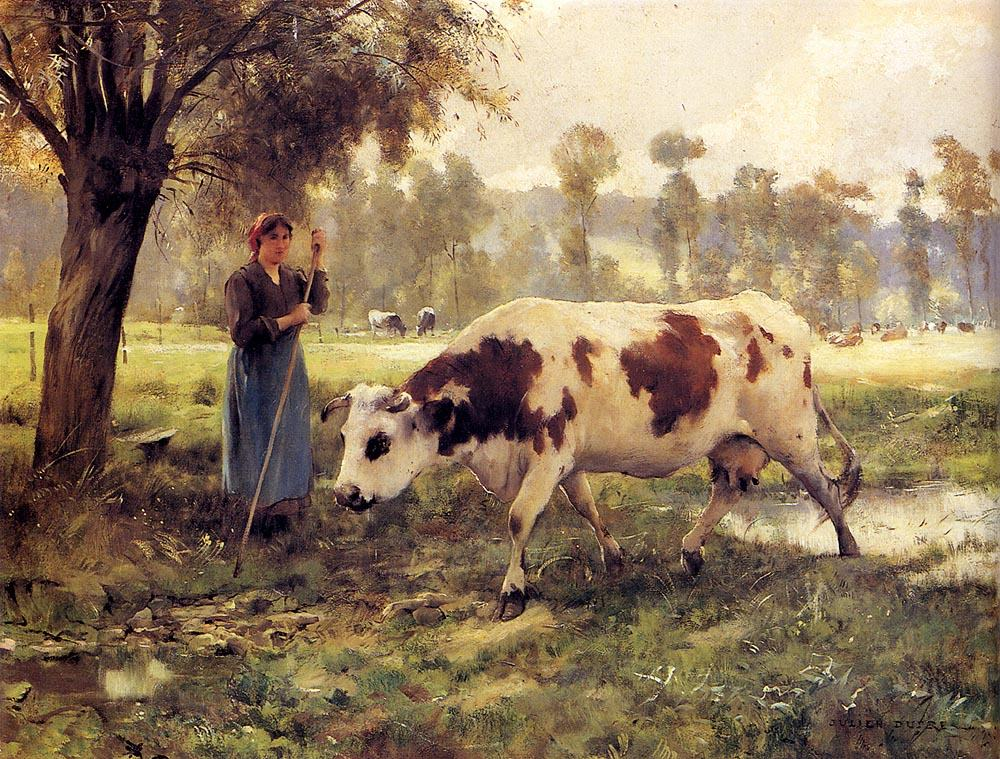 Julien Dupre Cows At Pasture
