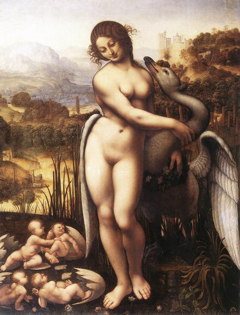 Leonardo da Vinci Leda and the Swan