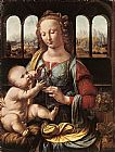 Madonna Canvas Paintings - The Madonna of the Carnation