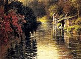 Famous River Paintings - A French River Landscape
