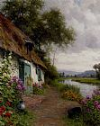 Louis Aston Knight A Riverside Cottage painting