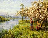 Louis Aston Knight - Country Women after Fishing on a Summer's Day
