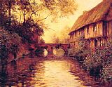 Famous River Paintings - Houses by the River