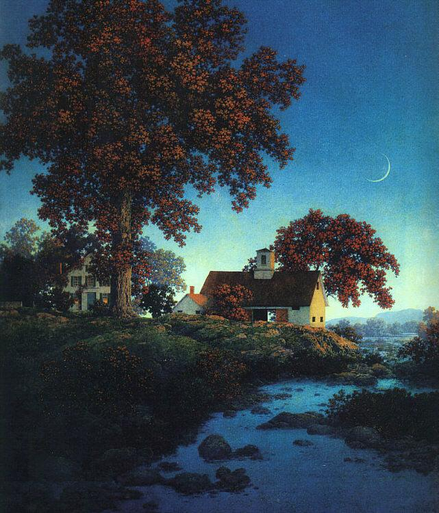 Maxfield Parrish New Moon