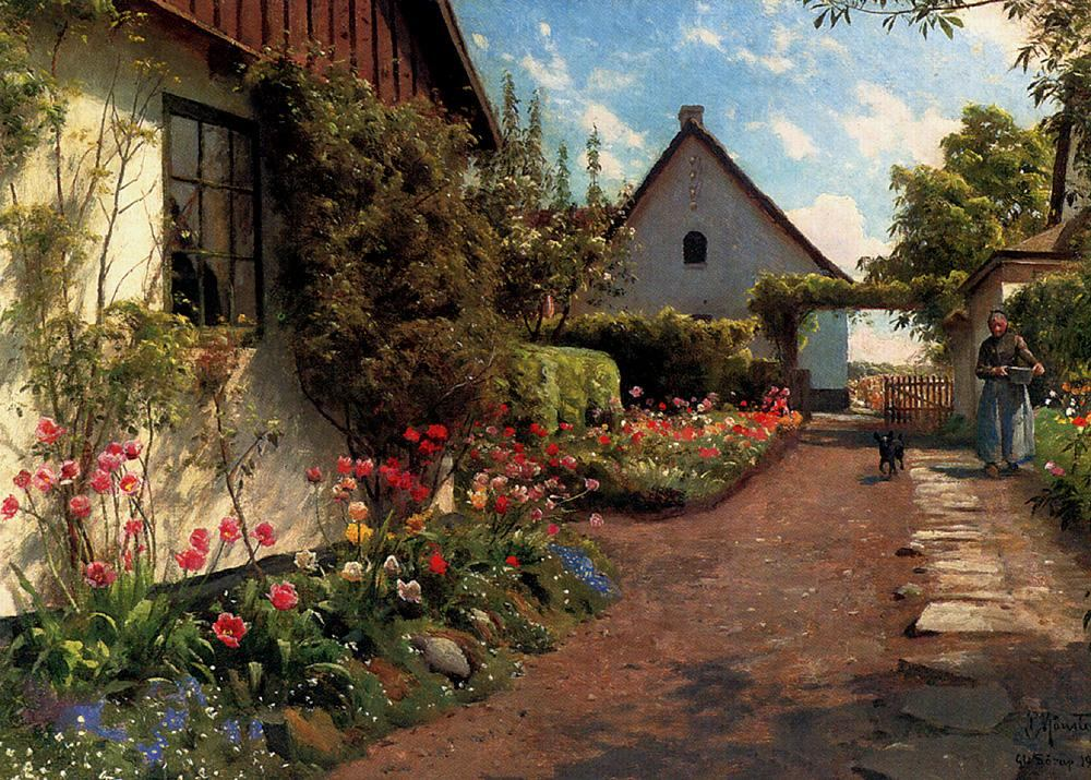 Peder Mork Monsted In The Garden