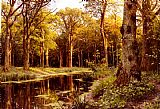 Forest Canvas Paintings - A Forest Stream