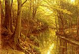 Famous Stream Paintings - A Woodland Stream