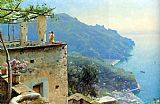 Peder Mork Monsted The Ravello Coastline painting