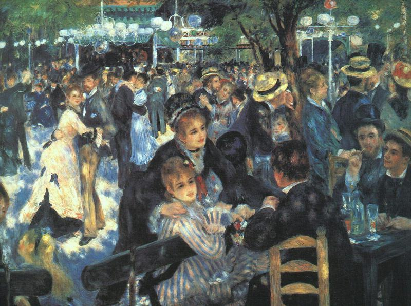 Pierre Auguste Renoir The Ball at the Moulin de la Galette