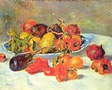 Pierre Auguste Renoir Canvas Paintings - Fruits from the Midi
