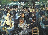 Pierre Auguste Renoir Canvas Paintings - The Ball at the Moulin de la Galette