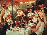Pierre Auguste Renoir Famous Paintings - The Boating Party Lunch
