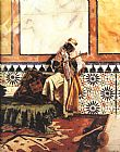Famous Interior Paintings - Gnaoua in a North African Interior