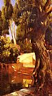 Famous Trees Paintings - The Staircase Under The Trees