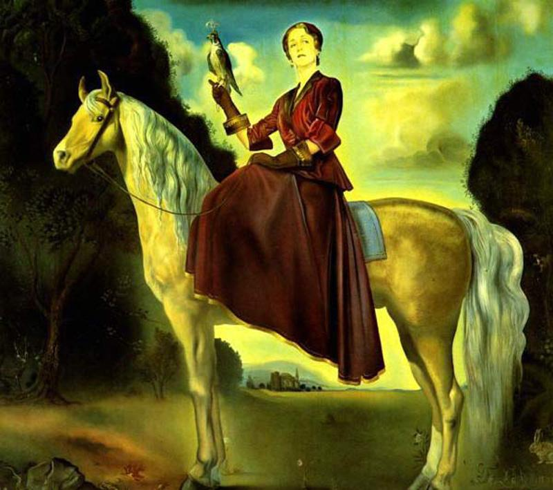 Salvador Dali Equestrian Fantasy - Portrait of Lady Dunn