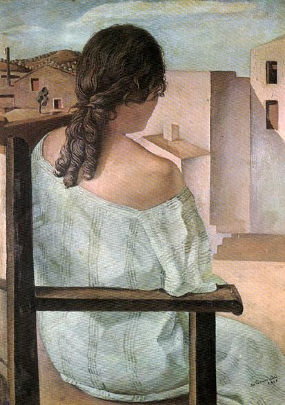 Salvador Dali Girl from the Back