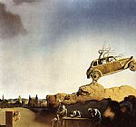 Salvador Dali Canvas Paintings - Apparition of the Town of Delft