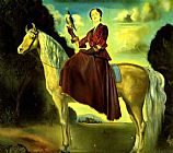 Salvador Dali Canvas Paintings - Equestrian Fantasy - Portrait of Lady Dunn