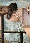 Salvador Dali Canvas Paintings - Girl from the Back