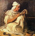 Theodore Chasseriau Young Teleb Seated painting