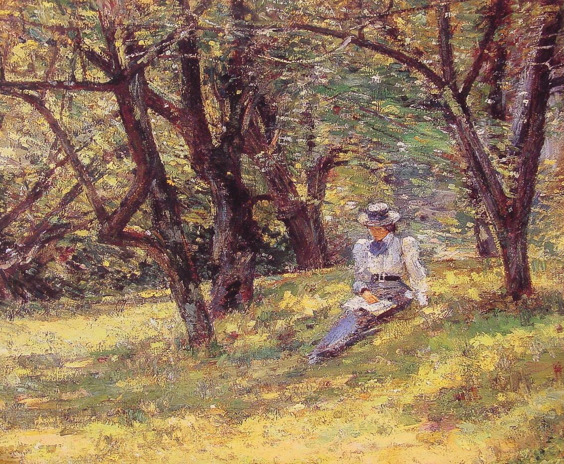 Theodore Robinson In the Orchard