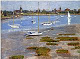 Theodore Robinson - Low Tide The Riverside Yacht Club