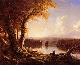 Thomas Cole - Indian at Sunset