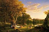 Thomas Cole Canvas Paintings - The Picnic