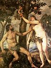 Man Canvas Paintings - The Fall of Man