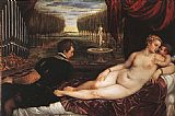 Titian Venus with Organist and Cupid painting
