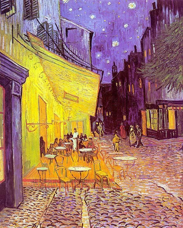 Attractive Vincent van Gogh Cafe Terrace at Night painting | framed paintings  ES43