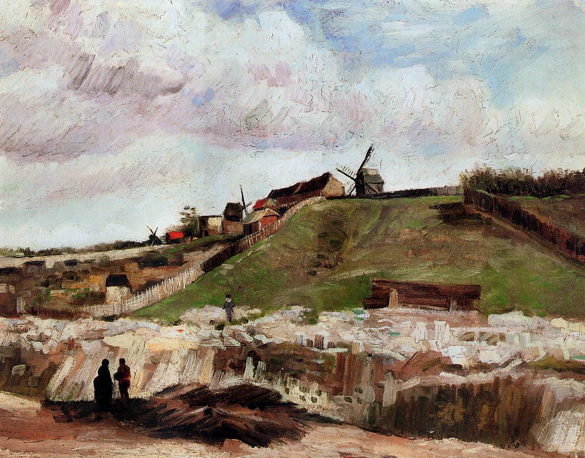 Vincent van Gogh Montmartre the Quarry and Windmills