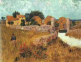 Vincent Van Gogh Canvas Paintings - Farmhouse in Provence