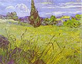 Vincent van Gogh - Green Wheat Field with Cypress. Saint-Remy