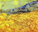 Vincent Van Gogh Canvas Paintings - Reaper