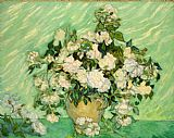 Vincent Van Gogh Canvas Paintings - Roses