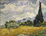 Vincent van Gogh Wheat Field with Cypresses painting