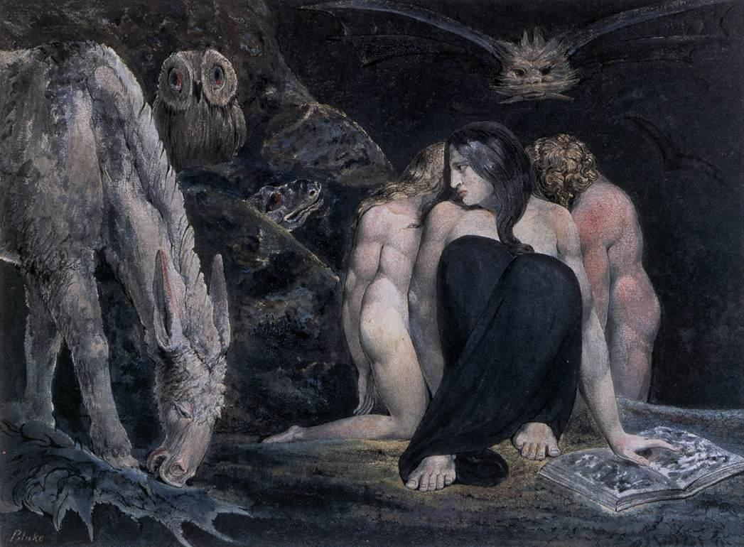 William Blake Hecate or the Three Fates